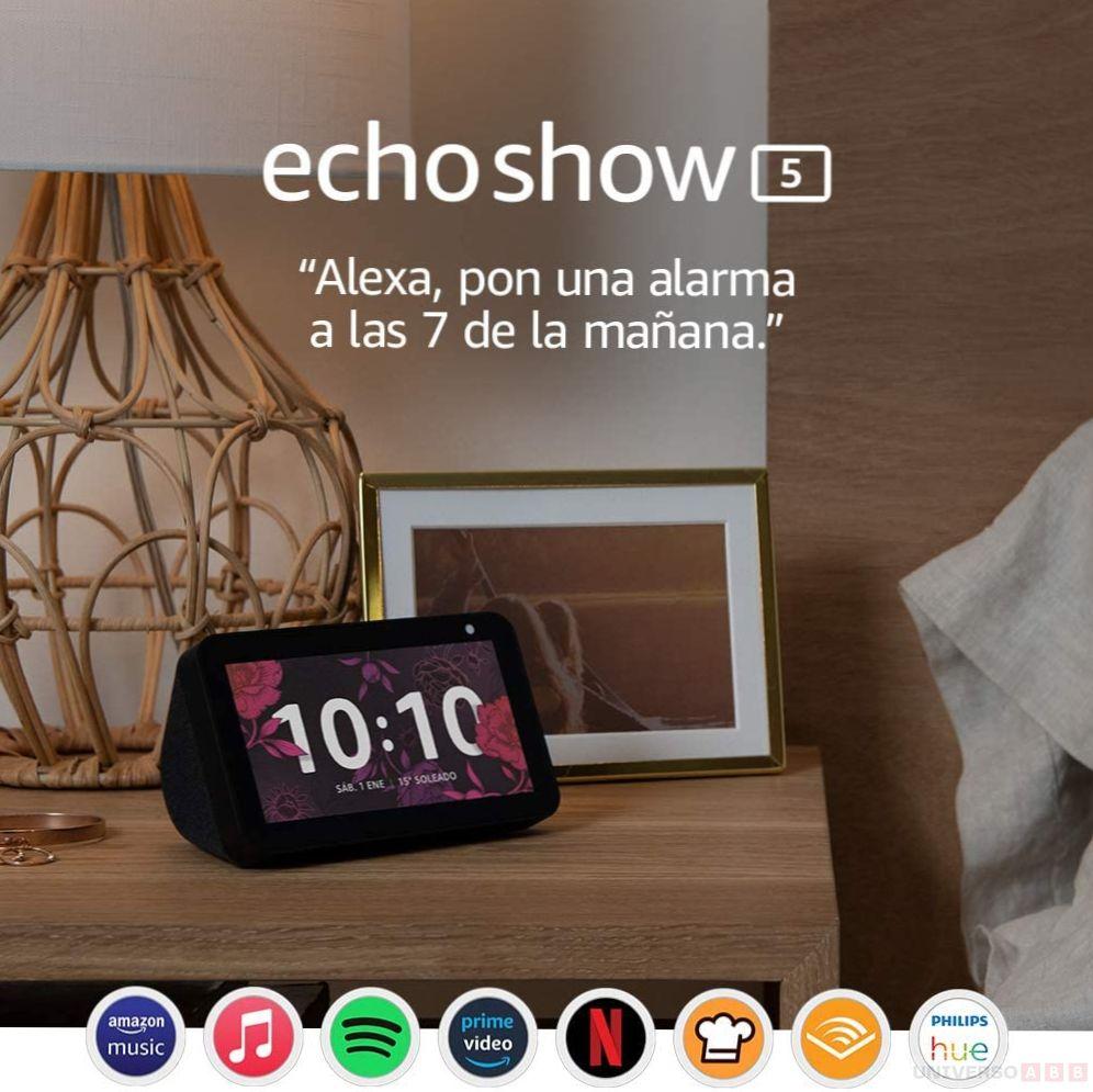 alexa echo show 5, amazon echo show 5, echo show 5 vs echo show 8, echo show 5 opiniones, amazon pantalla inteligente con alexa echo show 5, configurar echo show 5, echo show 5, soporte echo show, instrucciones echo show 5, ver netflix, ver netflix echo show 5
